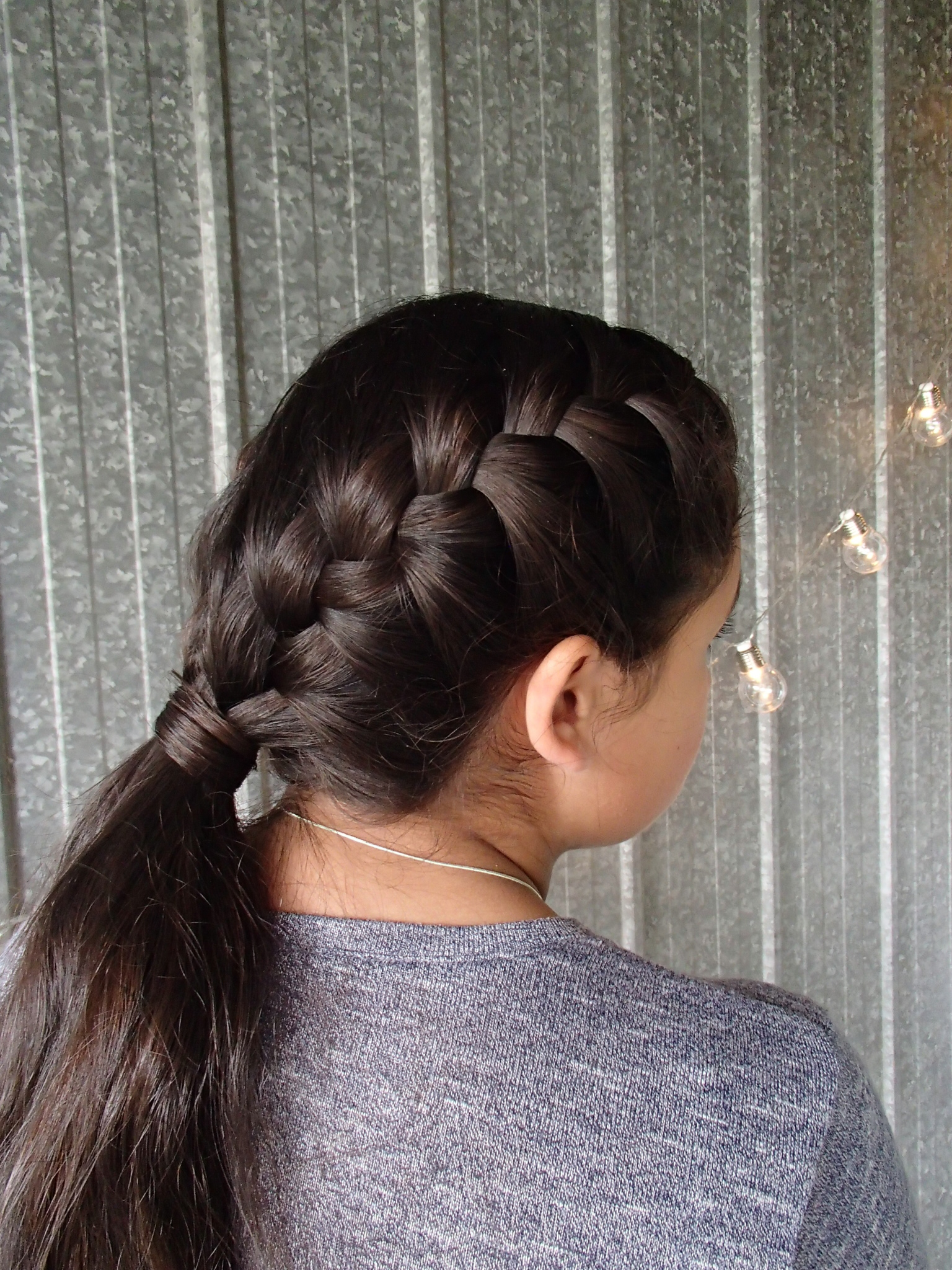 Double French Braided Ponytail Sport Hairstyles Seton