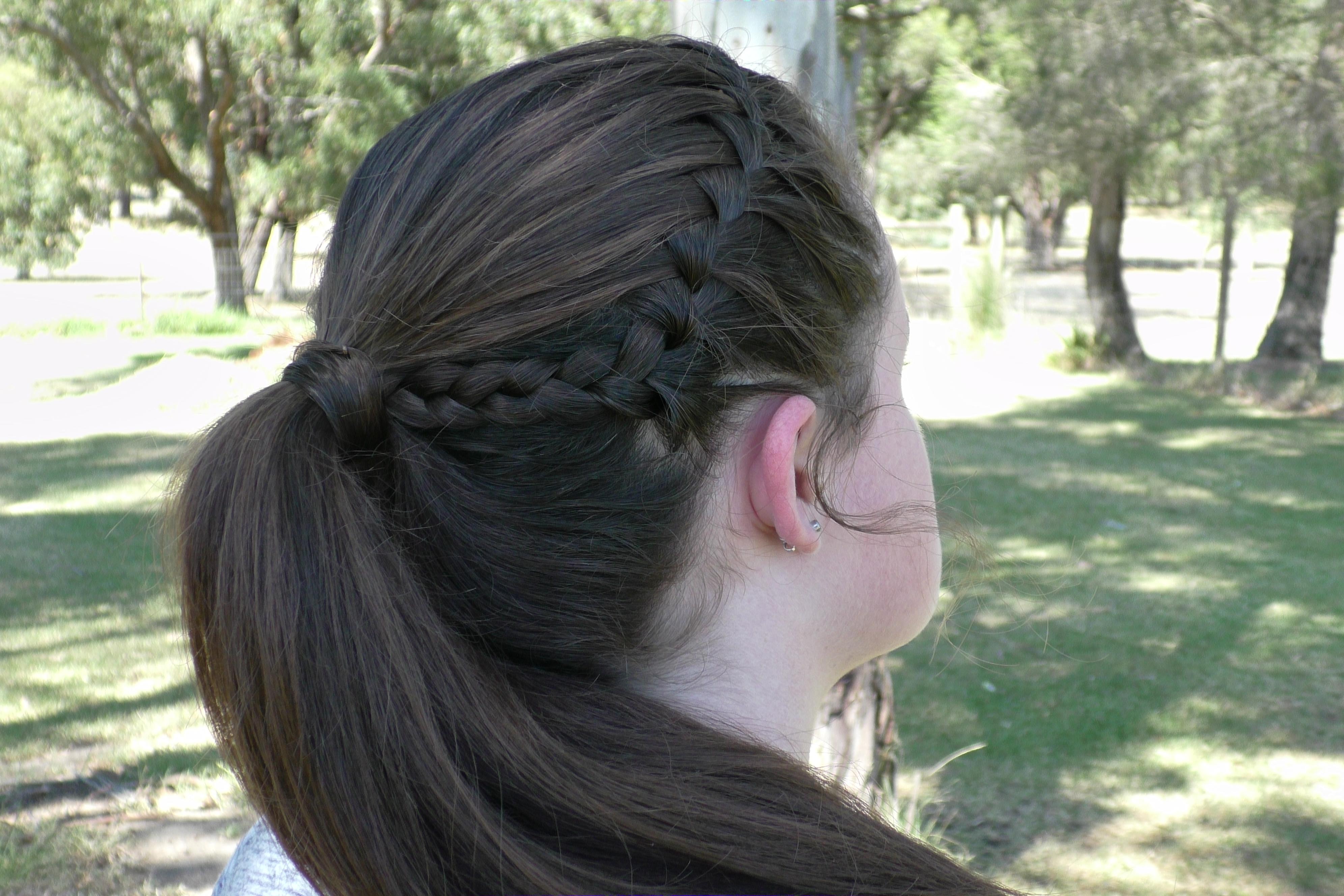 Waterfall Ponytail | Sport Hairstyle – Seton Girls\' Hairstyles