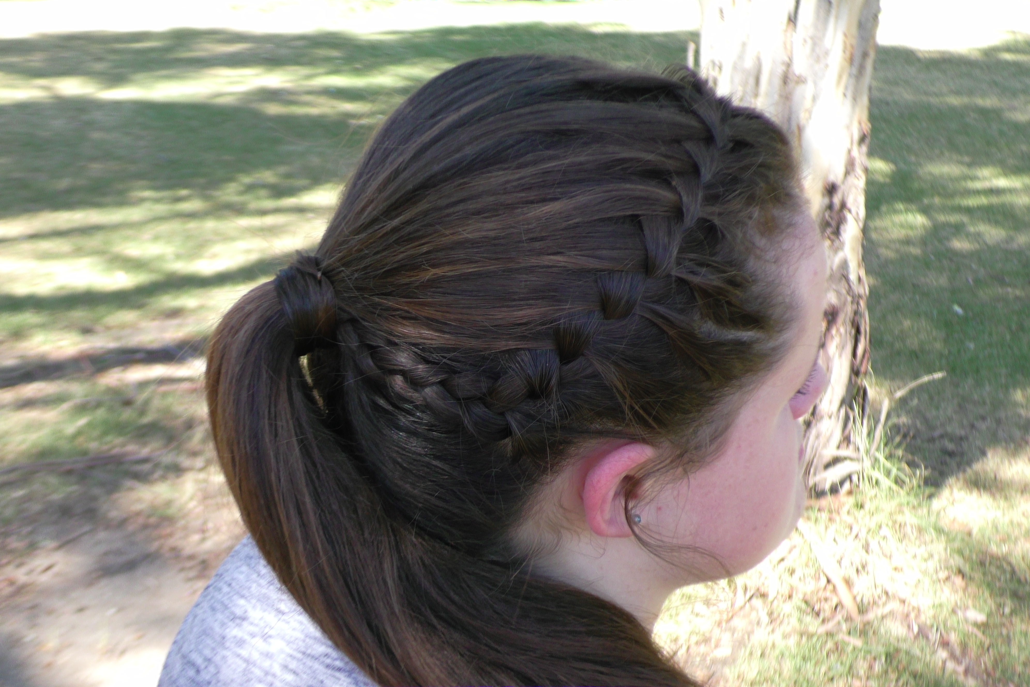 Wonderful The Thing Thatu0027s A Bit Different In This Hairstyle To A Normal Waterfall  Braid In This Tutorial Is That The Actually Drop The Top Strand Instead Of  The ...