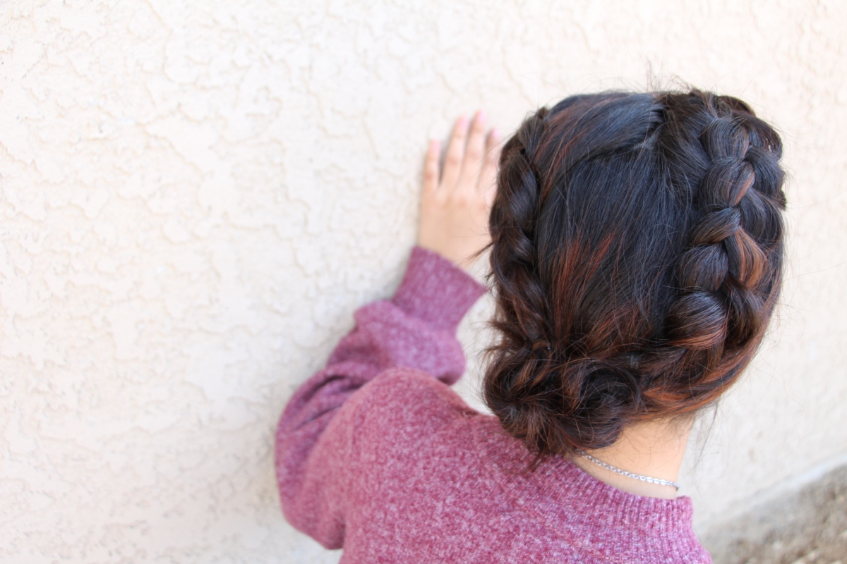 Dutch Braided Side Messy Bun {For SHORT hair!}