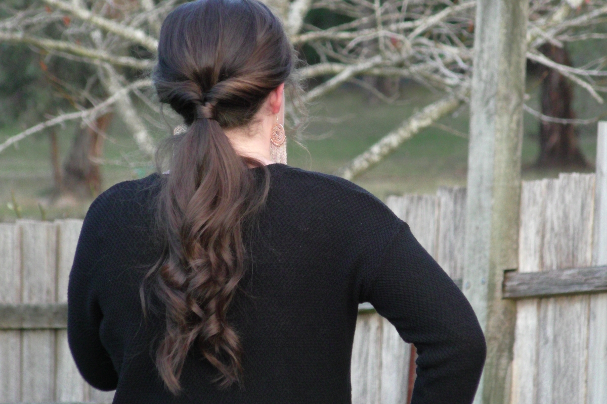 Super Easy Formal Ponytail