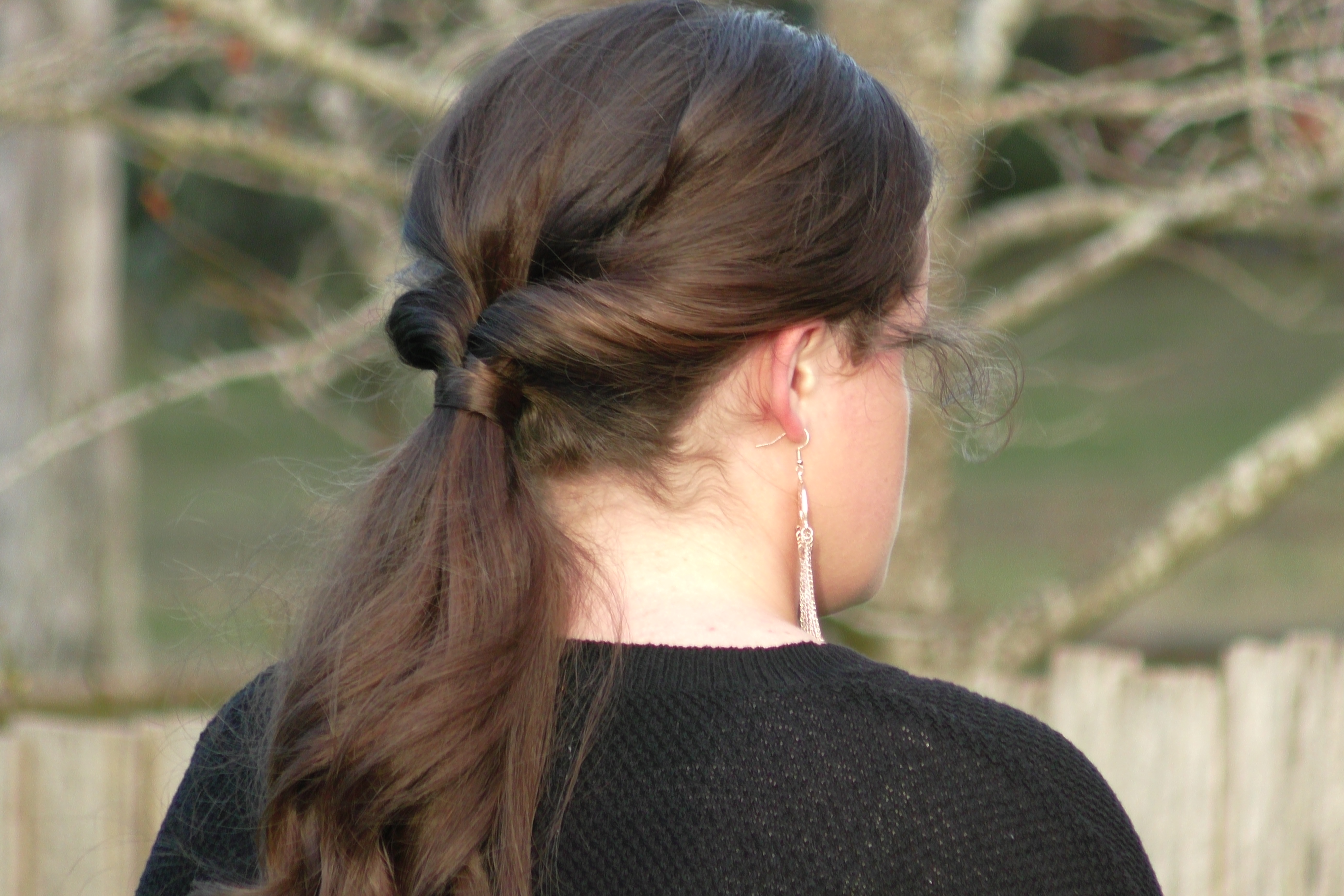 Super Easy Formal Ponytail - Seton Girls' Hairstyles