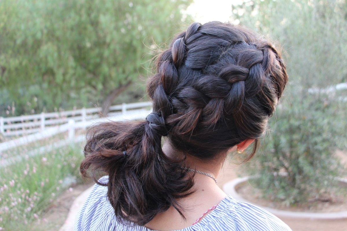Dutch-Braided Summer Ponytail