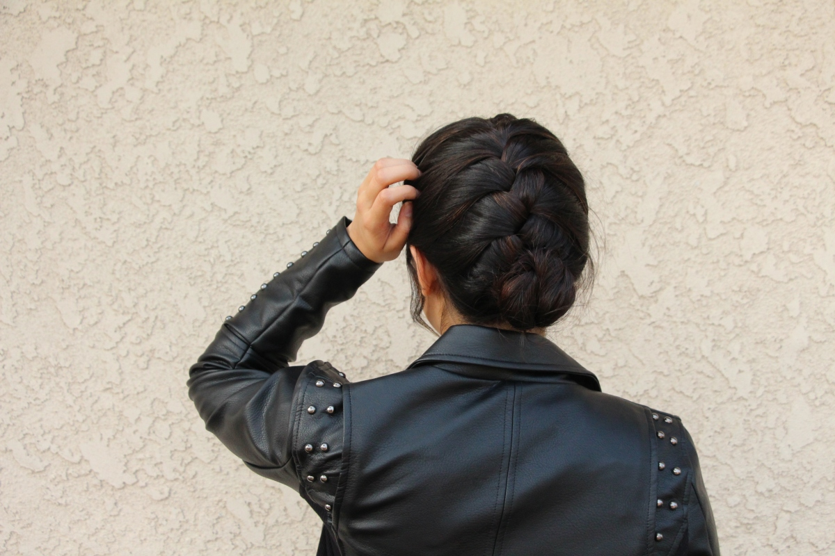 ~French Braid Updo~ | Short hairstyles
