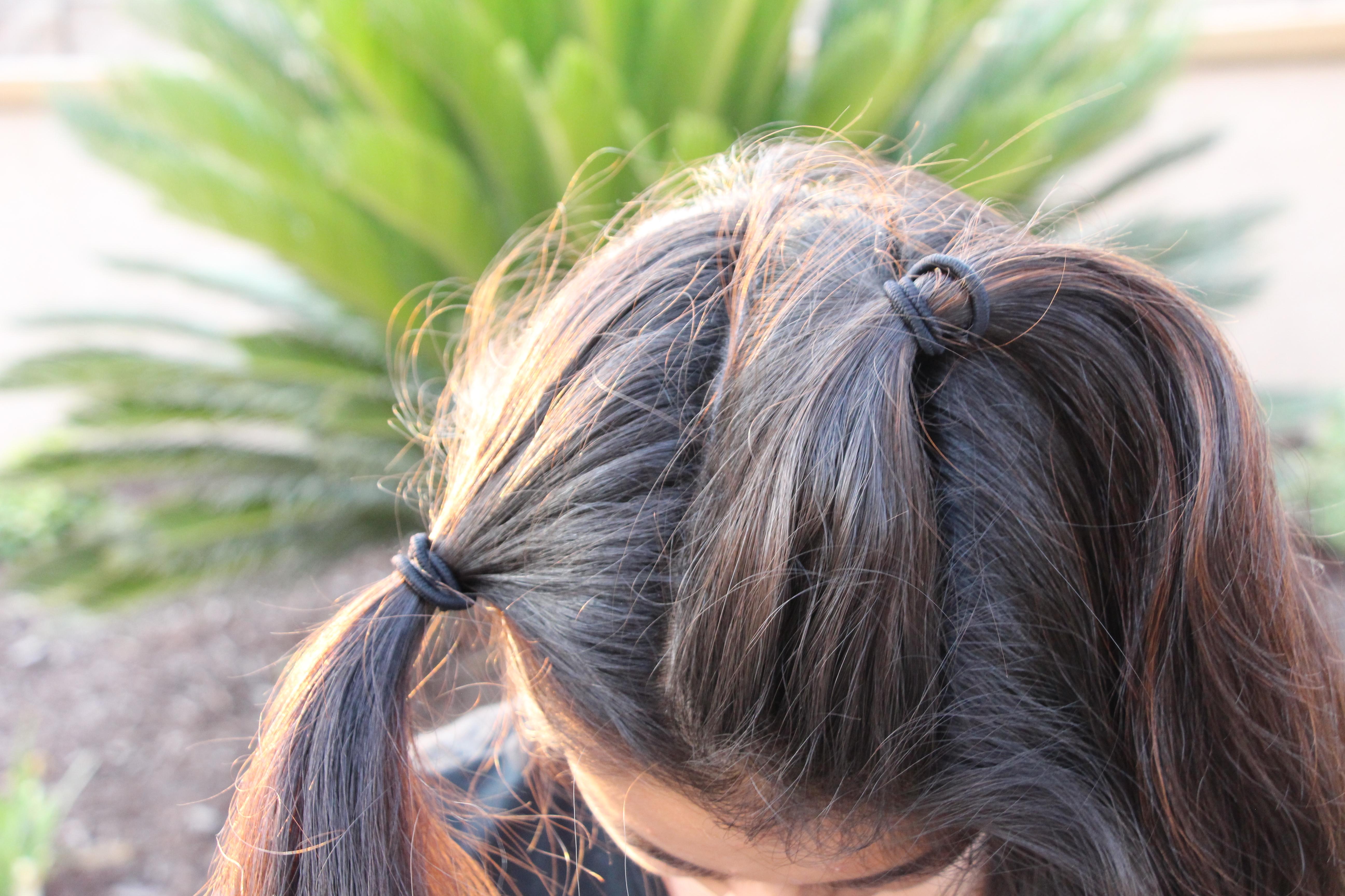 Triple French-Braided Sporty Ponytail – Seton Girls' Hairstyles