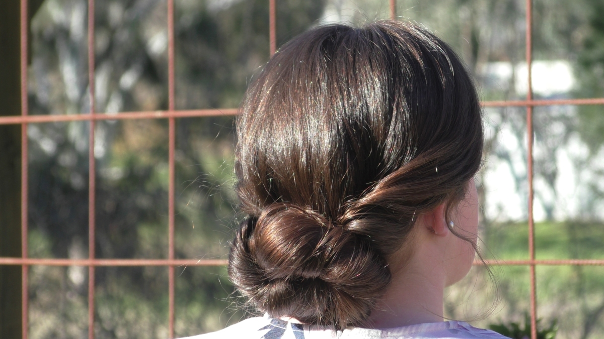 Simple Formal Updo | Beginner Hairstyles