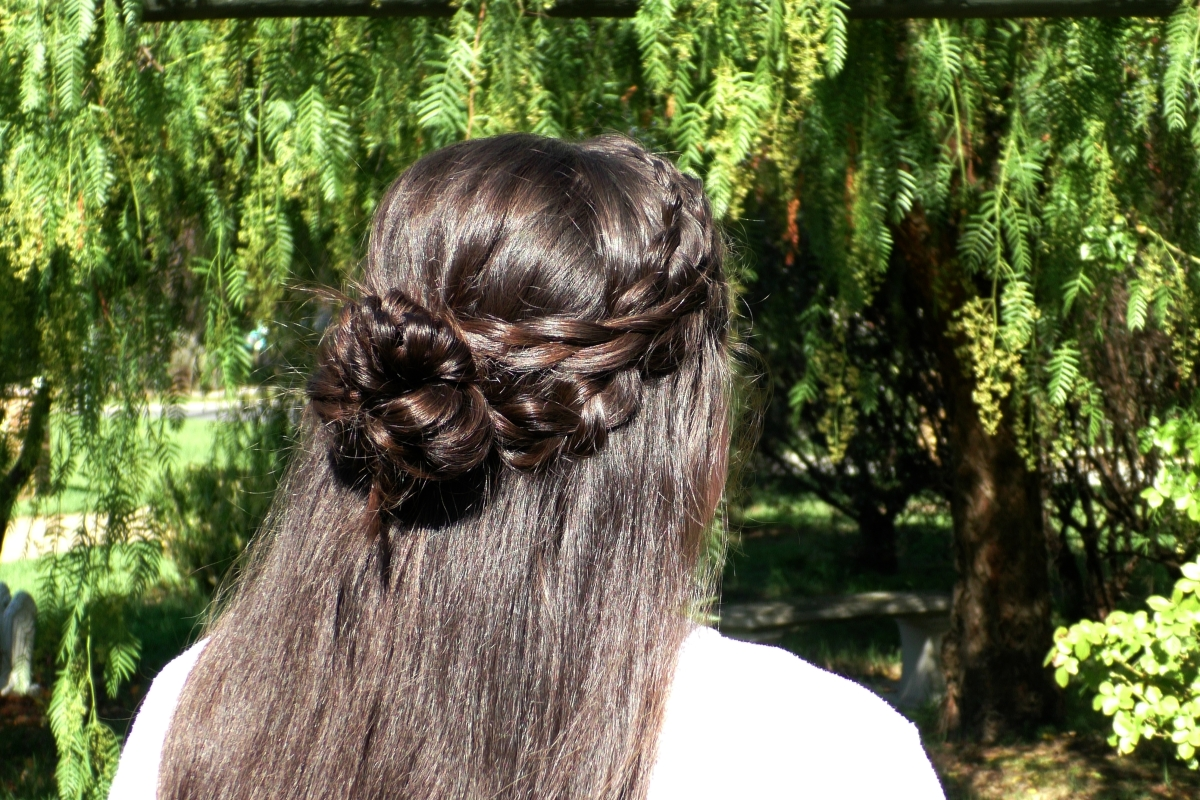 Crisscross Dutch Half-up Bun | Prom Hairstyles